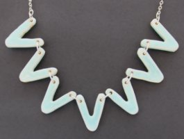 Celadon glazed ceramic jewellery